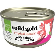 Solid Gold Tropical Blendz with Salmon & Coconut Oil Pate Grain-Free Canned Cat Food