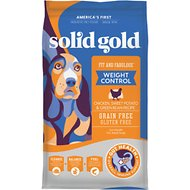 Solid Gold Fit & Fabulous Chicken, Sweet Potato & Green Bean Weight Control Recipe Grain-Free Dry Dog Food, 24-lb bag
