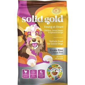 Solid Gold Young At Heart Senior Grain-Free Chicken, Sweet Potato & Spinach Dry Dog Food, 4-lb bag