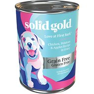 Solid Gold Love At First Bark Chicken, Potatoes & Apples Puppy Recipe Grain-Free Canned Dog Food, 13.2-oz, case of 12