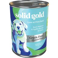 Solid Gold Love At First Bark Beef, Potatoes & Apples Puppy Recipe Grain-Free Canned Dog Food, 13.2-oz, case of 12