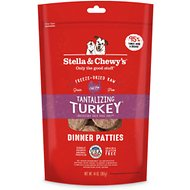 Stella & Chewy's Tantalizing Turkey Dinner Patties Grain-Free Freeze-Dried Dog Food, 14-oz bag
