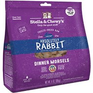 Stella & Chewy's Absolutely Rabbit Dinner Morsels Freeze-Dried Raw Cat Food, 9-oz bag