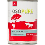 Artemis Osopure Grain-Free Beef in Gravy Canned Dog Food, 12-oz, case of 12