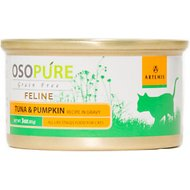 Artemis Osopure Tuna & Pumpkin Recipe in Gravy Grain-Free Canned Cat Food, 3-oz, case of 24