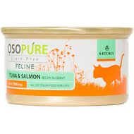 Artemis Osopure Grain-Free Tuna & Salmon Recipe in Gravy Grain-Free Canned Cat Food, 3-oz, case of 24