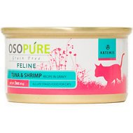 Artemis Osopure Tuna & Shrimp Recipe in Gravy Grain-Free Canned Cat Food, 3-oz, case of 24