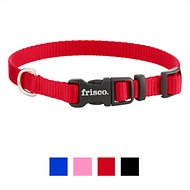 Frisco Solid Nylon Dog Collar, Red, Extra Small