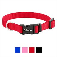 Frisco Solid Nylon Dog Collar, Red, Small