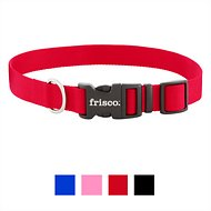 Frisco Solid Nylon Dog Collar, Red, Large