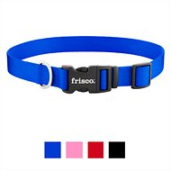 Frisco Solid Nylon Dog Collar, Blue, Large
