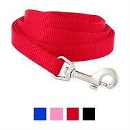 Frisco Solid Nylon Dog Leash, Red, Small: 6-ft long, 5/8-in wide