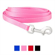 Frisco Solid Nylon Dog Leash, Pink, X-Small: 6-ft long, 3/8-in wide