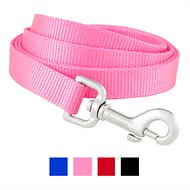 Frisco Solid Nylon Dog Leash, Pink, Medium: 6-ft long, 3/4-in wide