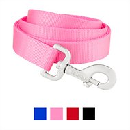 Frisco Solid Nylon Dog Leash, Pink, 6-ft, 1-in