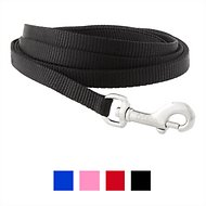 Frisco Solid Nylon Dog Leash, Black, 6-ft, 3/8-in