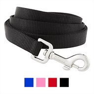Frisco Solid Nylon Dog Leash, Black, 6-ft, 3/4-in