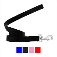 Frisco Solid Nylon Dog Leash, Black, 6-ft, 1-in