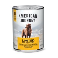 American Journey Limited Ingredient Diet Chicken & Sweet Potato Recipe Grain-Free Canned Dog Food, 12.5-oz, case of 12