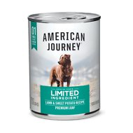 American Journey Limited Ingredient Diet Lamb & Sweet Potato Recipe Grain-Free Canned Dog Food, 12.5-oz, case of 12