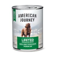 American Journey Limited Ingredient Diet Duck & Sweet Potato Recipe Grain-Free Canned Dog Food, 12.5-oz, case of 12
