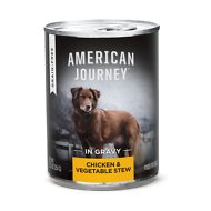 American Journey Stews Chicken & Vegetables Recipe in Gravy Grain-Free Canned Dog Food, 12.5-oz, case of 12