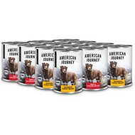American Journey Poultry & Beef Variety Pack Grain-Free Canned Dog Food, 12.5-oz, case of 12