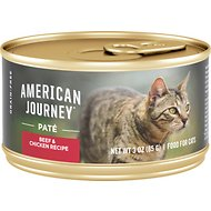 American Journey Pate Beef & Chicken Recipe Grain-Free Canned Cat Food, 3-oz, case of 24