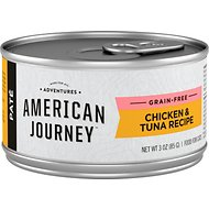 American Journey Pate Chicken & Tuna Recipe Grain-Free Canned Cat Food, 3-oz, case of 24