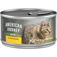 American Journey Pate Chicken Recipe Grain-Free Canned Cat Food, 3-oz, case of 24