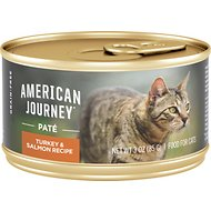 American Journey Pate Turkey & Salmon Recipe Grain-Free Canned Cat Food, 3-oz, case of 24