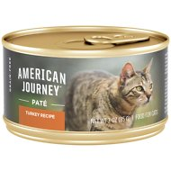 American Journey Pate Turkey Recipe Grain-Free Canned Cat Food, 3-oz, case of 24