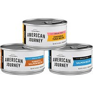 American Journey Paté Poultry & Seafood Variety Pack Grain-Free Canned Cat Food, 3-oz, case of 24
