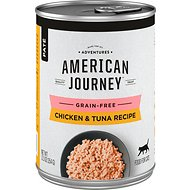 American Journey Pate Chicken & Tuna Recipe Grain-Free Canned Cat Food, 12.5-oz, case of 12