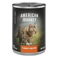 American Journey Pate Turkey Recipe Grain-Free Canned Cat Food, 12.5-oz, case of 12