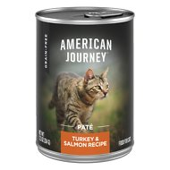American Journey Pate Turkey & Salmon Recipe Grain-Free Canned Cat Food, 12.5-oz, case of 12