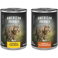 American Journey Paté Poultry & Seafood Variety Pack Grain-Free Canned Cat Food, 12.5-oz, case of 12