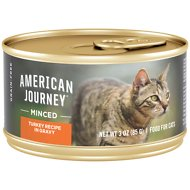 American Journey Minced Turkey Recipe in Gravy Grain-Free Canned Cat Food, 3-oz, case of 24
