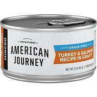 American Journey Minced Turkey & Salmon Recipe in Gravy Grain-Free Canned Cat Food, 3-oz, case of 24