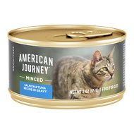 American Journey Minced Salmon & Tuna Recipe in Gravy Grain-Free Canned Cat Food, 3-oz, case of 24