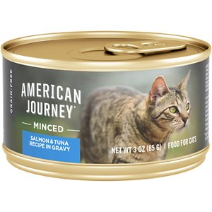 American Journey Wet Canned Cat Food Salmon & Tuna Recipe in Gravy