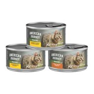 American Journey Minced Poultry in Gravy Variety Pack Grain-Free Canned Cat Food, 3-oz, case of 24