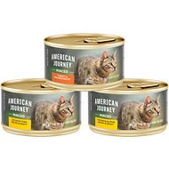 American Journey Minced Poultry & Seafood in Gravy Variety Pack Grain-Free Canned Cat Food, 3-oz, case of 24