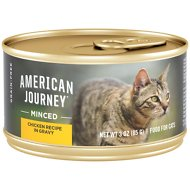 American Journey Minced Chicken Recipe in Gravy Grain-Free Canned Cat Food, 3-oz, case of 24