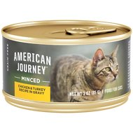 American Journey Minced Chicken & Turkey Recipe in Gravy Grain-Free Canned Cat Food, 3-oz, case of 24