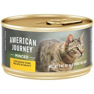 American Journey Minced Chicken & Tuna Recipe in Gravy Grain-Free Canned Cat Food, 3-oz, case of 24