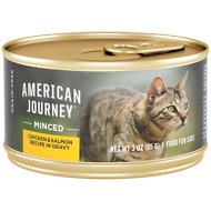 American Journey Minced Chicken & Salmon Recipe in Gravy Grain-Free Canned Cat Food, 3-oz, case of 24