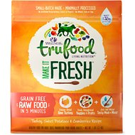 Wellness TruFood Make it Fresh Turkey, Sweet Potatoes & Cranberries Recipe Raw Freeze-Dried Dog Food, 7-lb bag
