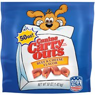 Canine Carry Outs Beef & Cheese Flavor Dog Treats, 50-oz bag