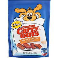 Canine Carry Outs Bacon & Cheese Flavor Dog Treats, 25-oz bag